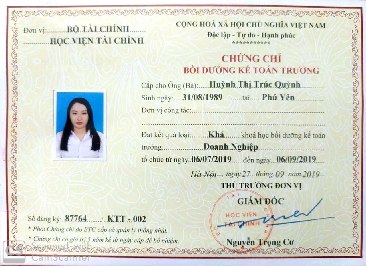HINH CHUNG CHI KE TOAN TRUONG